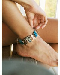 Free People Vacation Time Beaded Anklet - Multicolor