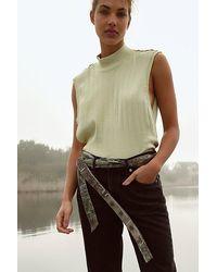 Free People Bandana Stitched Wrap Belt - Green