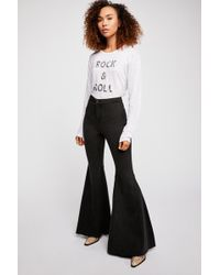 Free People Just Float On Flare Jeans By We The Free - Black