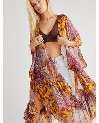Free People Sweet Emotion Ruffle Kimono - Multicolor