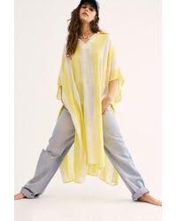 Free People Shore Thing Stripe Kaftan - Yellow