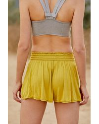 Free People Dream Work Shorts By Fp Movement - Yellow