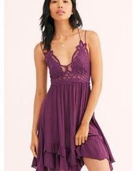Free People Adella Slip Dress - Purple