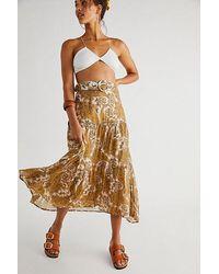 MINKPINK Sistan Belted Midi Skirt - Multicolour
