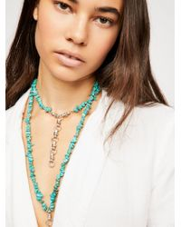 Free People - Raquel Raw Stone Necklace - Lyst