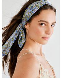 Free People Maelu Designs Headscarf - Blue