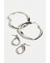 Berry Jones Recycled Hoop Earrings - Metallic