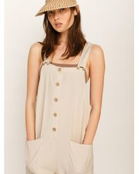 Free People Not Over You Overalls - Natural