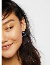 Free People - Farrah Metal Hoops - Lyst
