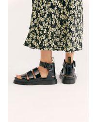 Free People Dr. Martens Clarissa Ii Flatform Sandals - Black