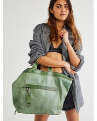 Free People Joey Distressed Convertible Backpack - Green