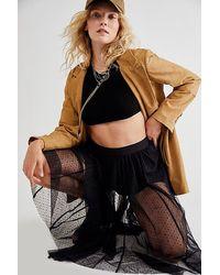 Free People Eden Tulle Skirt - Black
