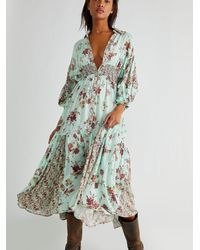 Free People Prairie Punk Shirtdress - Green