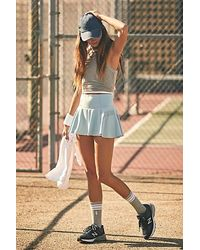 Fp Movement Pleats And Thank You Skort - Grey