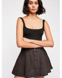 Free People - Daze Away Mini Skort - Lyst