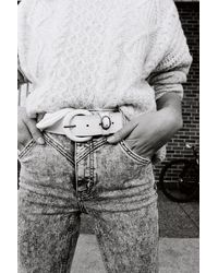 Free People Wild Horse Leather Belt By Fp Collection - White
