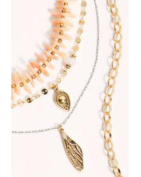 Free People Hacienda Layered Necklace - Metallic