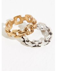 Free People Link Ring - Metallic