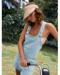 Free People Over It Short One Piece - Blue
