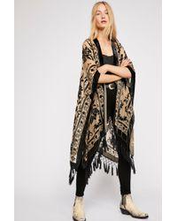 Free People Nightbird Burnout Kimono - Black