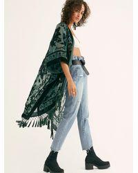 Free People Nightbird Burnout Kimono - Green