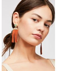 Free People - Western Leather Earrings - Lyst
