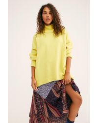 Free People Afterglow Mock Neck Sweater - Multicolor