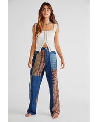 Dr. Collectors X Free People Patched Jeans - Blue