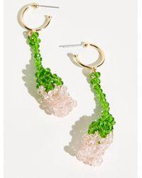 Free People Strawberry Fields Forever Earrings - Green