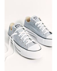 Free People Chuck Taylor All Star Lift Trainers By Converse - Grey