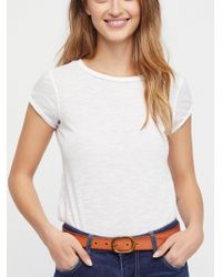 Free People - Vienna Leather Belt - Lyst