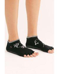 ToeSox Evermore Ruffle Grip Socks - Black