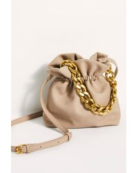 Free People Carmen Chain Clutch - Natural