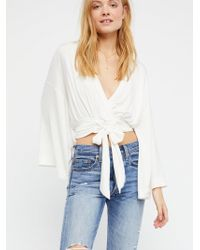 Free People - Thats A Wrap Solid Top - Lyst