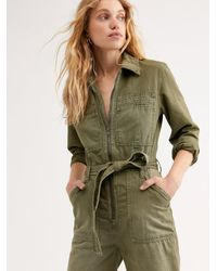 Free People Charlie Coveralls - Green