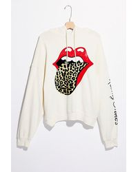 Daydreamer Rolling Stones Tongue Hoodie - White
