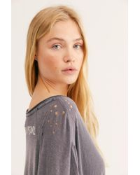 Free People Jett Oversized Tee By Magnolia Pearl - Gray