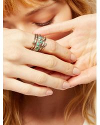 Free People - Twisted Raw Stones Ring - Lyst