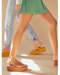 Free People Haven Thong Flatform Sandals - Blue