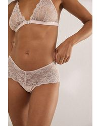 Intimately Lili Lace Brazilian Underwear - Brown