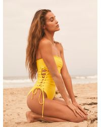 Free People Ellie One Piece Swimsuit - Yellow