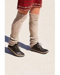 Free People Ribbed Over The Knee Legwarmer - Grey