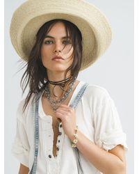 Free People Lourdes Straw Hat - Natural