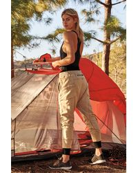 Free People June Bug Trousers By Fp Movement - Natural