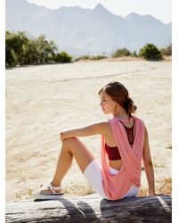 Free People No Sweat Tank Solid By Fp Movement - Pink