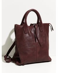 Free People Crossroad Convertible Leather Backpack - Brown