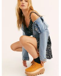 Free People Frankie Flatform By Jeffrey Campbell - Multicolour
