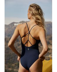 Free People Dance All Day Bodysuit By Fp Movement - Blue