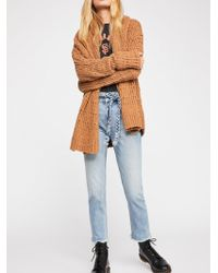 Free People - Hi & Belted Slim Straight-leg Jeans By We The Free - Lyst