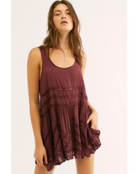 Free People - Voile And Lace Trapeze Slip By Intimately - Chemise - Lyst